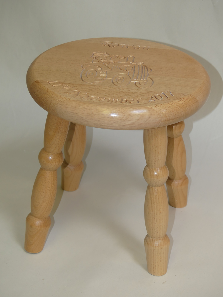 Lacquered Beech Stool